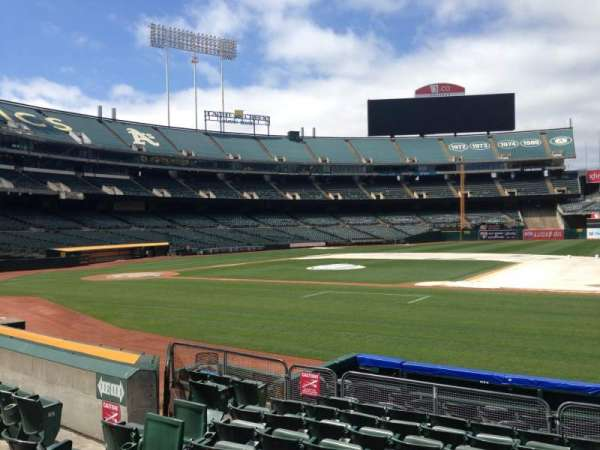 Oakland Coliseum, section: 111, row: 9