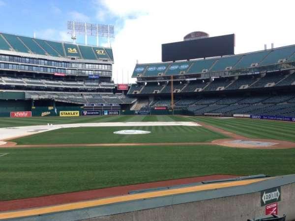Oakland Coliseum, section: 120, row: 8