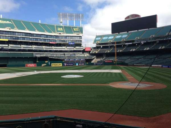 Oakland Coliseum, section: 119, row: 8