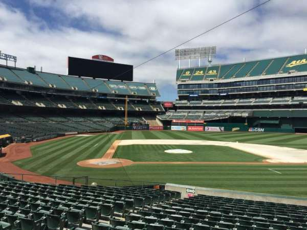 Oakland Coliseum, section: 114, row: 22
