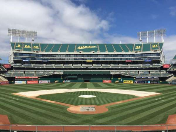 Oakland Coliseum, section: 117, row: 22