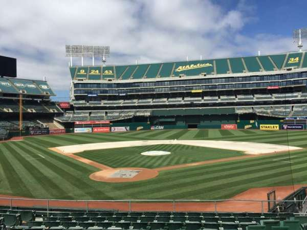 Oakland Coliseum, section: 116, row: 22