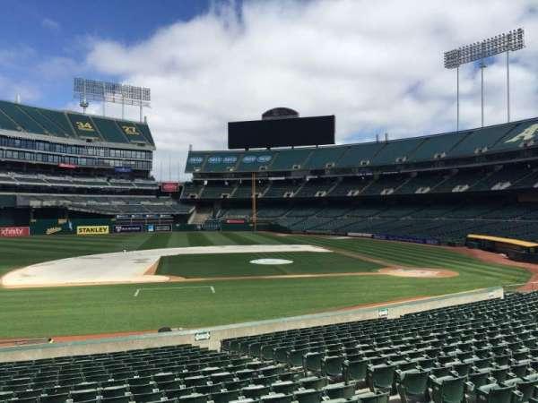 Oakland Coliseum, section: 122, row: 22