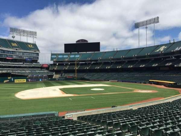 Oakland Coliseum, section: 123, row: 22