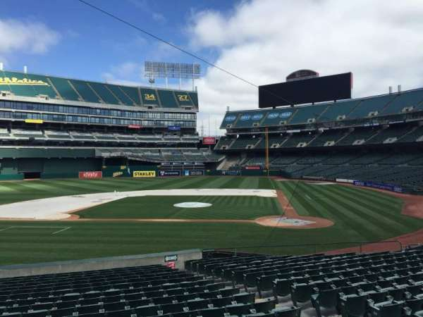 Oakland Coliseum, section: 120, row: 22
