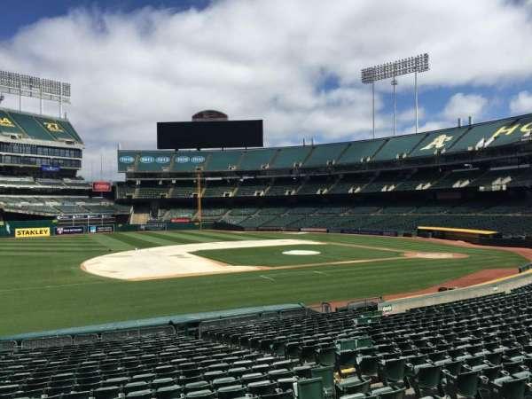 Oakland Coliseum, section: 124, row: 22