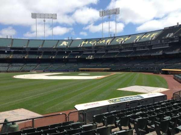 Oakland Coliseum, section: 129, row: 8