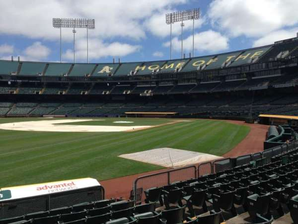 Oakland Coliseum, section: 128, row: 8