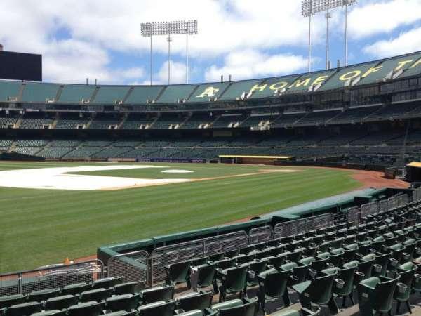 Oakland Coliseum, section: 126, row: 8
