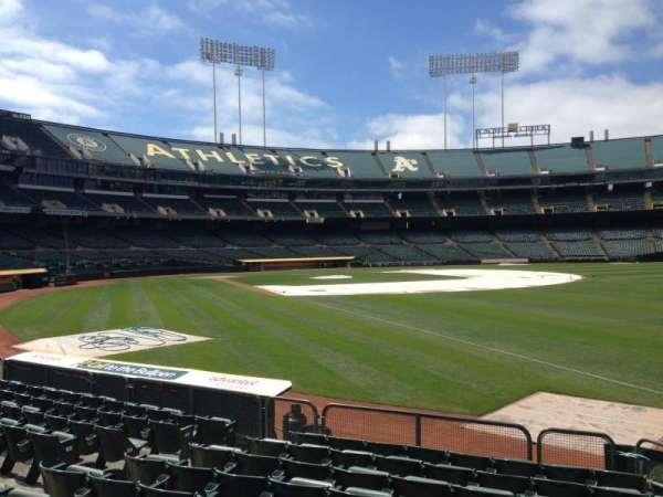 Oakland Coliseum, section: 104, row: 8