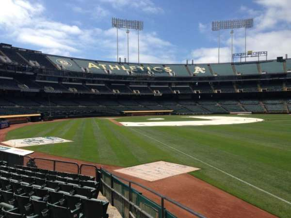 Oakland Coliseum, section: 103, row: 22