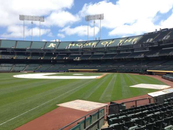 Oakland Coliseum, section: 130, row: 12
