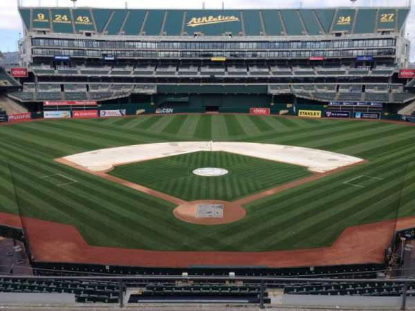 Oakland Coliseum, section: 217, row: 3