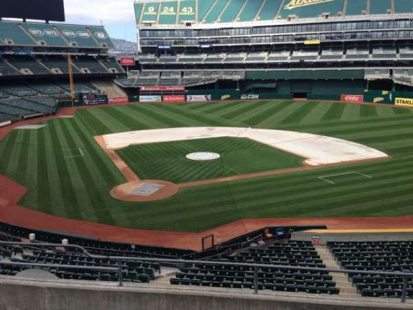 Oakland Coliseum, section: 215, row: 3