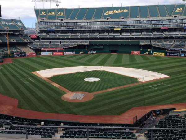 Oakland Coliseum, section: 216, row: 3