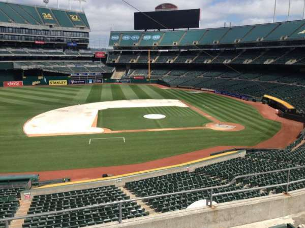 Oakland Coliseum, section: 222, row: 3