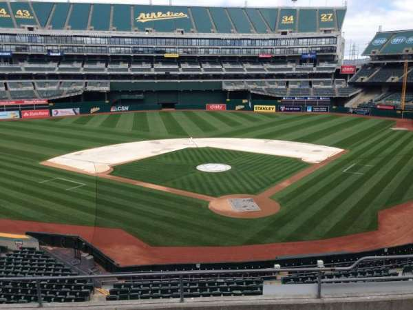 Oakland Coliseum, section: 218, row: 3