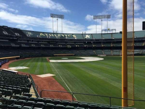 Oakland Coliseum, section: 103, row: 20