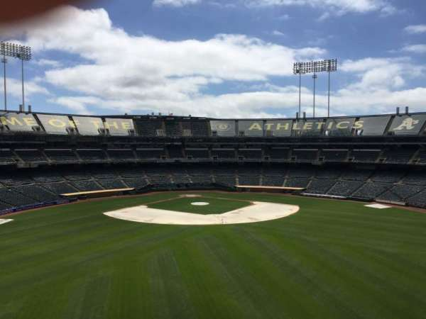 Oakland Coliseum, section: 244, row: 2