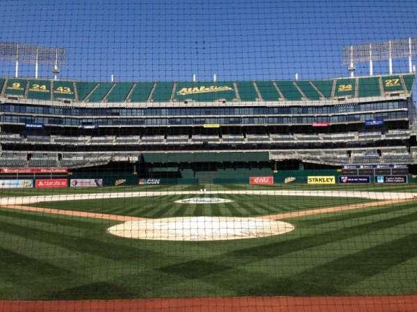 Oakland Coliseum, section: Diamod Level, row: 1