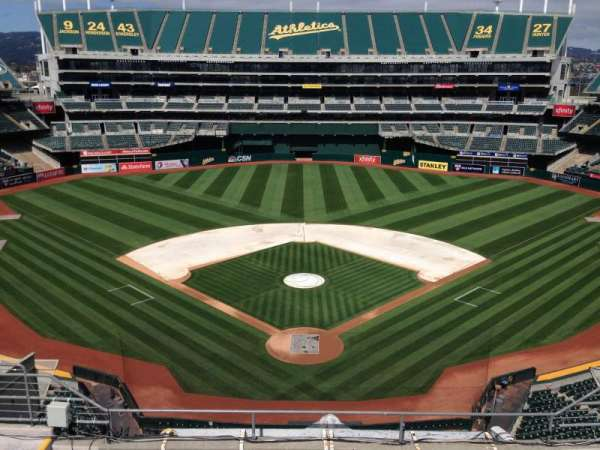 Oakland Coliseum, section: Press Box