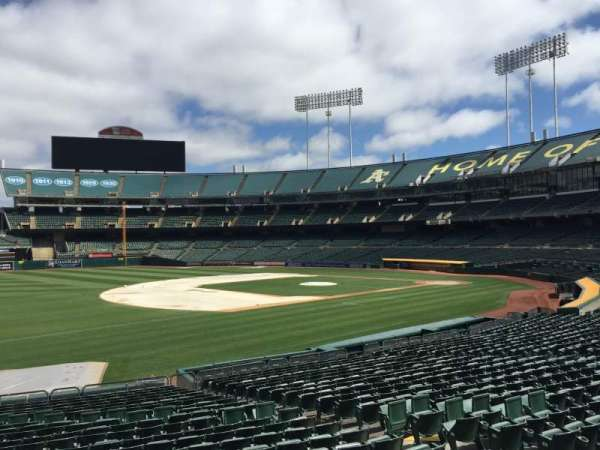 Oakland Coliseum, section: 126, row: 22