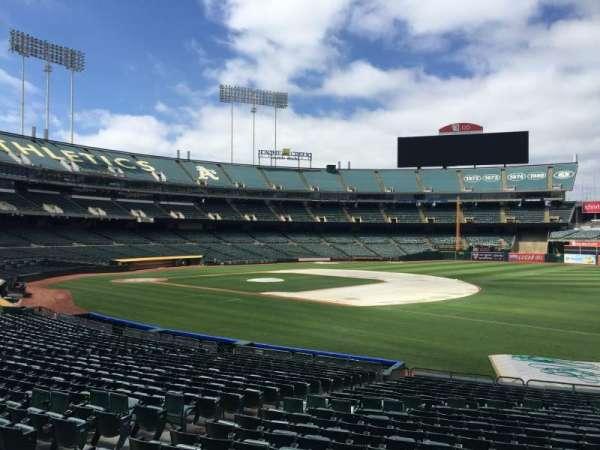 Oakland Coliseum, section: 108, row: 22