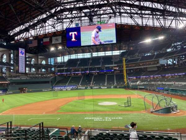 Globe Life Field, section: 10, row: 14, seat: 7