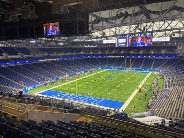 Ford Field, section: 347, row: 10, seat: 18