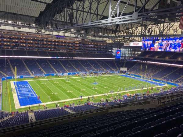 Ford Field, section: 327, row: 11, seat: 3