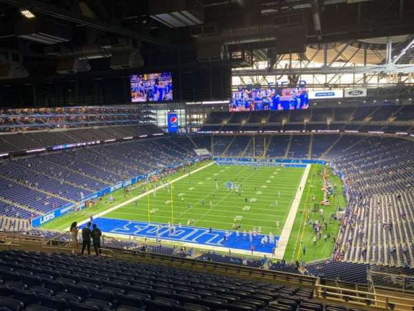 Ford Field, section: 320, row: 15, seat: 21