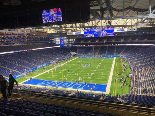 Ford Field, section: 320, row: 8, seat: 14