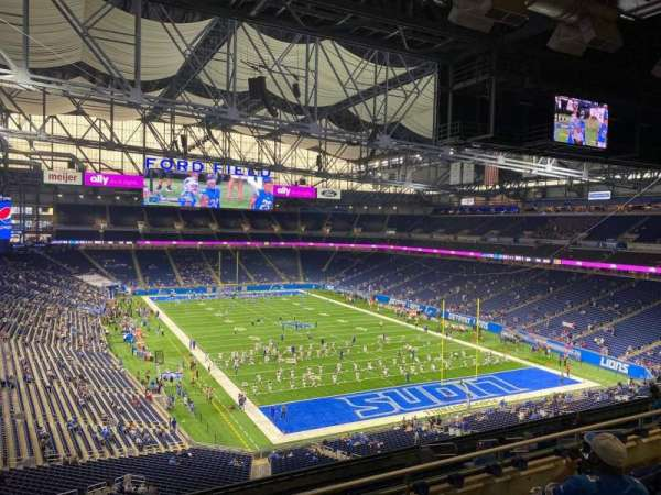 Ford Field, section: 315, row: 5, seat: 10