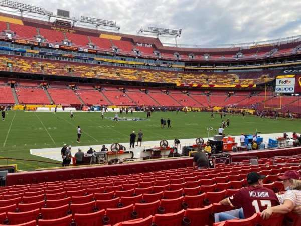 FedEx Field, section: 123, row: 13, seat: 19