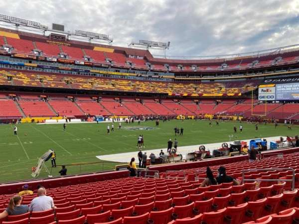 FedEx Field, section: 124, row: 17, seat: 12
