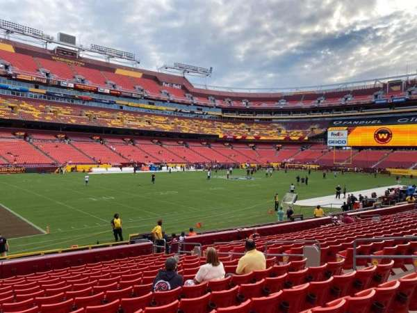 FedEx Field, section: 126, row: 15, seat: 11