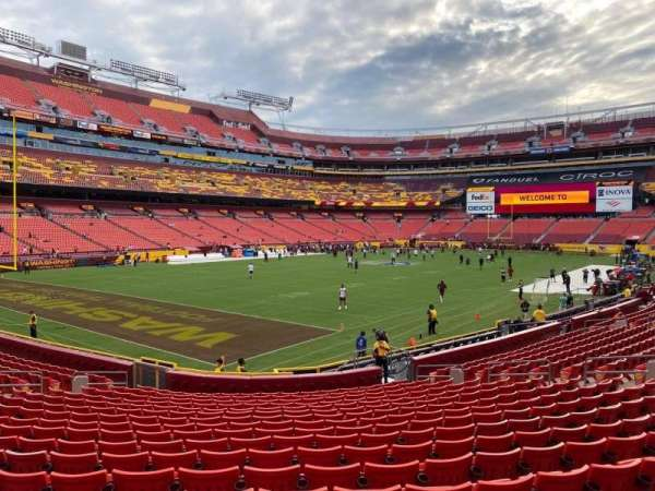 FedEx Field, section: 128, row: 18, seat: 7