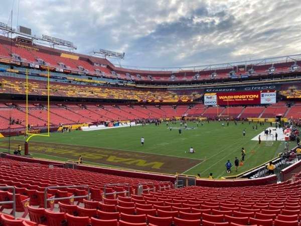 FedEx Field, section: 129, row: 21, seat: 8