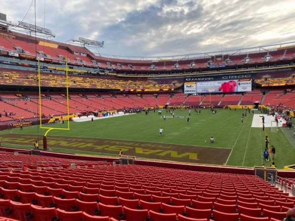FedEx Field, section: 130, row: 23, seat: 5