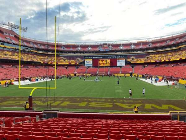 FedEx Field, section: 131, row: 16, seat: 12