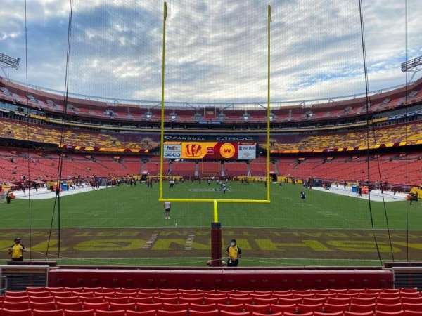 FedEx Field, section: 132, row: 12, seat: 12