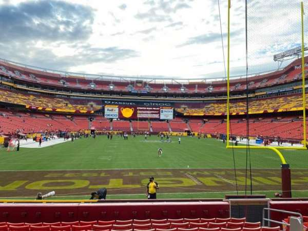 FedEx Field, section: 133, row: 10, seat: 8