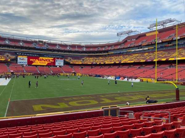 FedEx Field, section: 134, row: 12, seat: 11