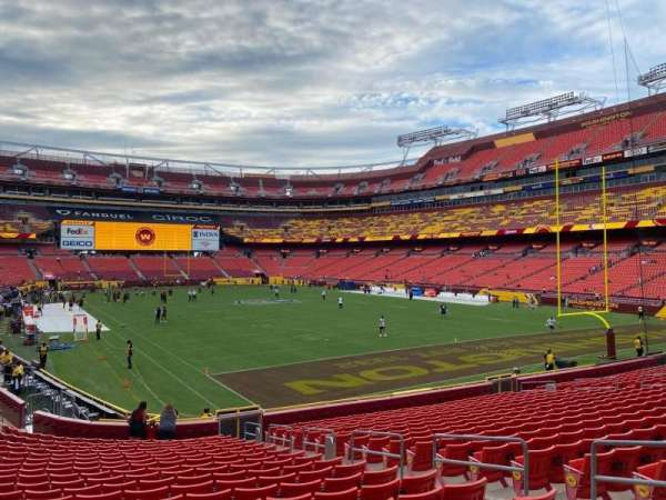 FedEx Field, section: 135, row: 21, seat: 7