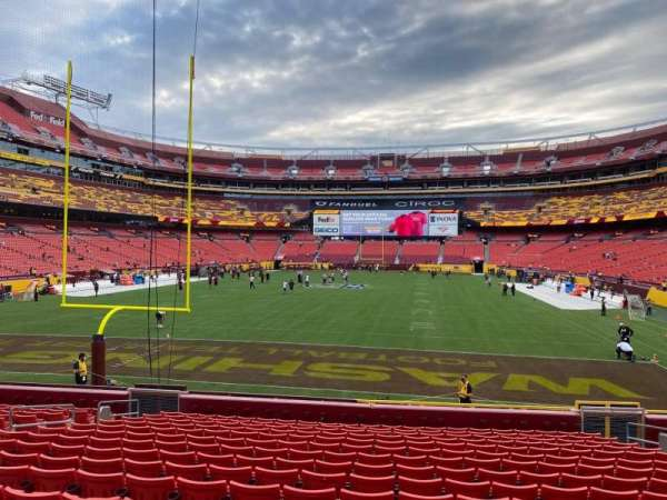 FedEx Field, section: 130, row: 16, seat: 10