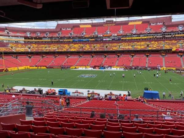 FedEx Field, section: 220, row: 9, seat: 12