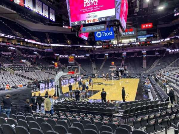 AT&T Center, section: 126, row: 12, seat: 5
