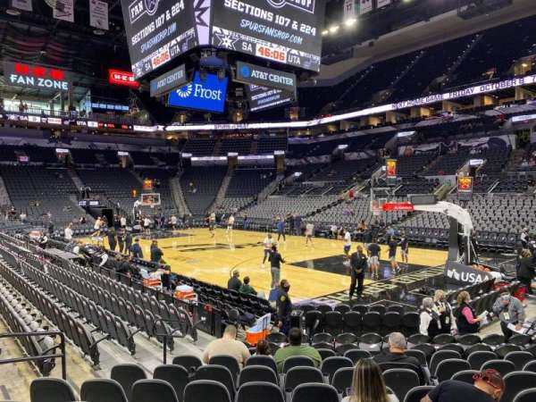 AT&T Center, section: 4, row: 14, seat: 3