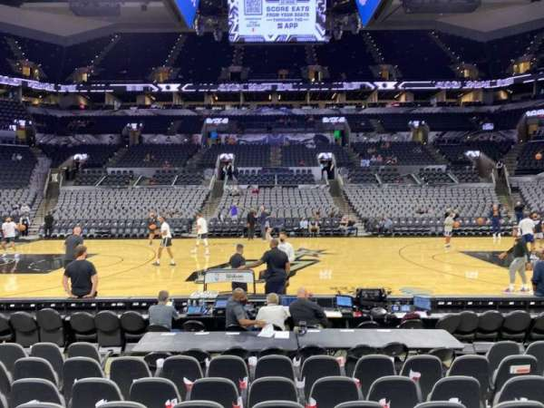 AT&T Center, section: 8, row: 11, seat: 10