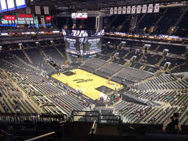 AT&T Center, section: 203, row: 10, seat: 27